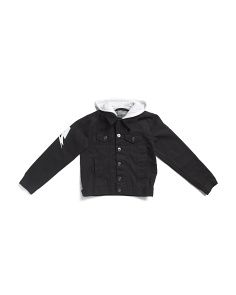 Big Boys Brooklyn Hooded Denim Jacket