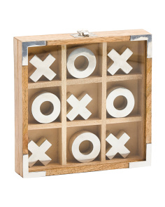 Wood And Aluminum Tic Tac Toe