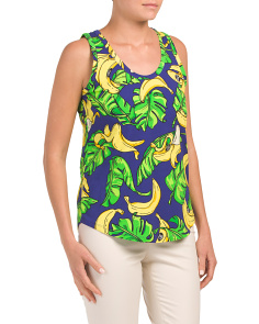 Sleeveless Printed Tank