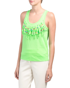 Fringed Beaded Top