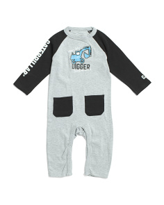 Newborn Boys Raglan Coveralls