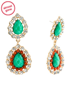 Teardrop Chandelier Crystal Earrings