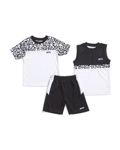 Little Boys 3 Piece Active Short Set