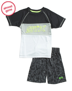 Little Boys 2pc Active Tee And Shorts Set
