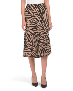 Juniors Tiger Print Skirt