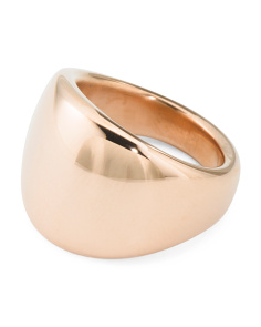 Made In Italy 14k Gold Electroform Graduated Band Ring