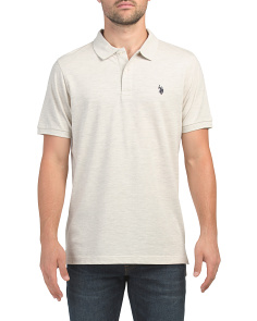 Short Sleeve Heathered Pique Classic Polo