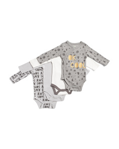 Newborn Boys 4pk Cool Bodysuits