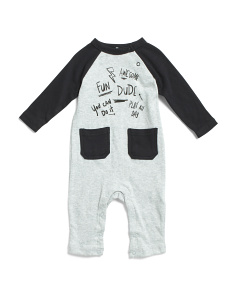 Newborn Boys Raglan Sleeve Coveralls