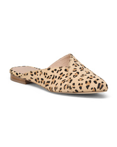 Haircalf Leopard Mules