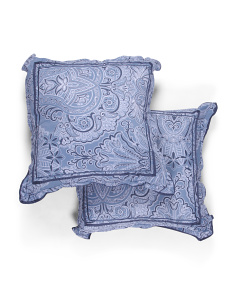 2pk Rita Damask Euro Pillows