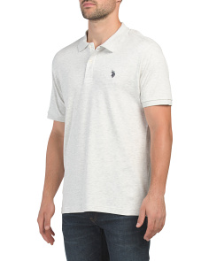Short Sleeve Heather Interlock Classic Polo