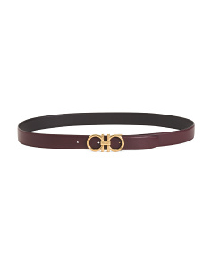 Made In Italy Leather Logo Belt