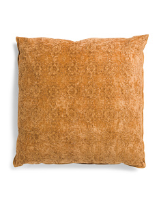 24x24 Oversized Textured Chenille Pillow