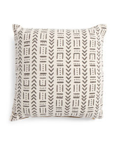 20x20 Multi Pattern Mudcloth Pillow