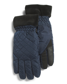 Quilted Diamond Ski Gloves