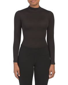 Juniors Long Sleeve Mock Neck Bodysuit