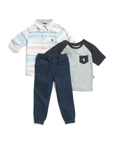Little Boys 3pc Shirt And Pant Set