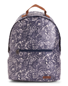 Artist Floral Printed Backpack