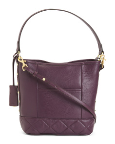 Leather Marcel Pebbled Convertible Hobo