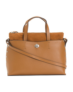 Leather Mariah Triple Entry Satchel