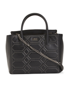 Leather West 33rd Large Studded Satchel