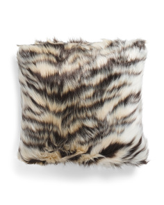 20x20 Animal Pattern Faux Fur Pillow