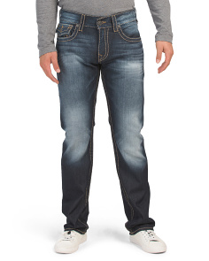 Straight Flap Pocket Denim Jeans