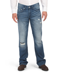 Straight No Flap Denim Jeans