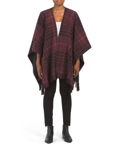 Nordic Large Plaid Reversible Fleece Ruana