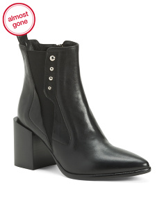 Made In Italy Leather Pointy Toe Boots
