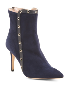 Made In Italy Pointy Toe Suede Booties