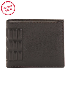 Made In Italy Embossed Spine Leather Bi Fold Wallet