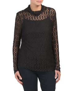 High Neck All Over Lace Top