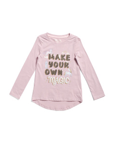 Girls Make Your Own Magic Top