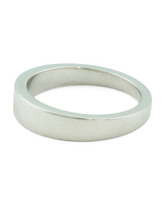 Made In Italy Platinum Wedding Band Ring