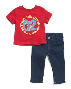 Infant Boys Tee And Denim Pant Set