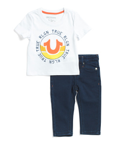 Infant Boys Tee And Denim Set