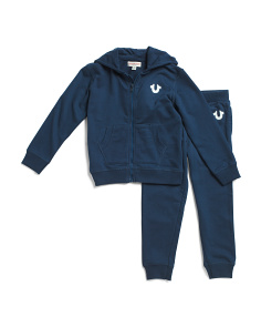 Little Boys Buddha Hoodie And Jogger Set
