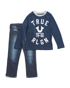 Little Boys True Star Tee And Denim Set