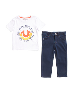 Toddler Boys Tee And Denim Set