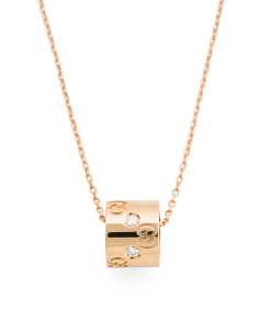 Made In Italy 18k Gold Diamond Icon Necklace
