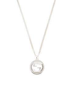 Made In Italy Sterling Silver Gg Groove Necklace