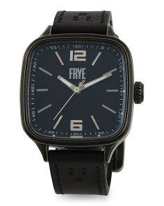 Men's Bowery Leather Strap Watch