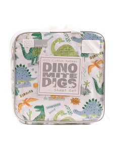 Dino Camp Cotton Sheet Set