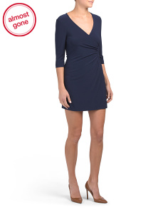 Petite V Neck Dress