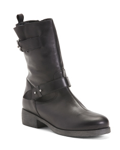 Made In Italy Mid-shaft Leather Boots