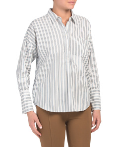 Selinde Striped Button Down Top