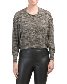 Made In Usa Caleigh B Camouflage Sweater