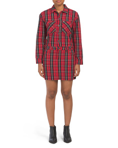 Tartan Plaid Shirtdress